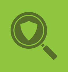 Antivirus program search glyph color icon vector