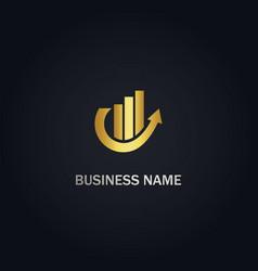 arrow up growth business company logo vector image