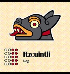 Aztec symbol Itzcuintli vector