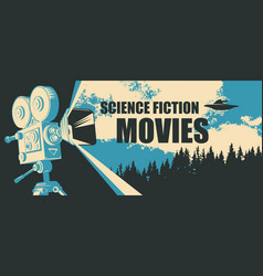Banner for science fiction movie festival vector