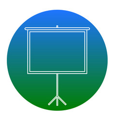 Blank projection screen white icon in vector