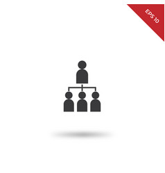 business hierarchy icon vector image