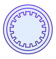 Car clutch plate flat icon car disc blue icons in vector