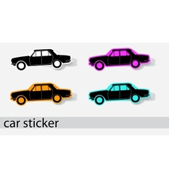 Car stiker icons vector