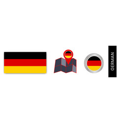 Collection german national flags vector