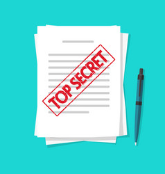 confidential secret document information or text vector image