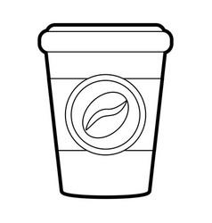 Cup of coffe drink vector
