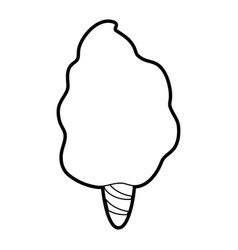 Delicious cotton candy icon image vector