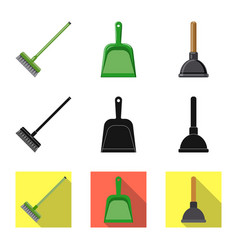 design of cleaning and service symbol set vector image
