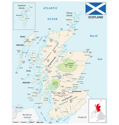 detailed colored map scotland vector image