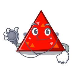 doctor triangel character cartoon style vector image