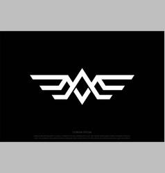 Eagle hawk falcon phoenix bird monogram logo vector