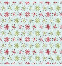 festive holiday and christmas snowflake stripes vector image