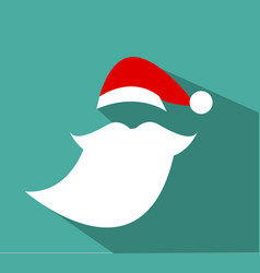 flat design santa claus face vector image