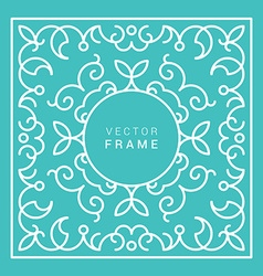 Floral Frame Line Art Design Template vector
