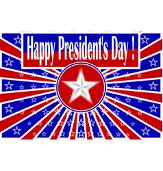 happy presidents day vector image