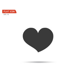 heart icon logo flat eps vector image