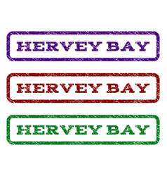 Hervey bay watermark stamp vector