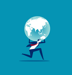 holding globe concept people and earth vector image