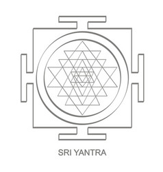 icon with sri yantra hinduism symbol vector image