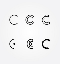 initial letter c logo typo pack vector image