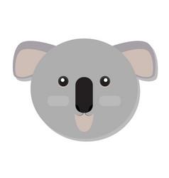 isolated koala face vector image