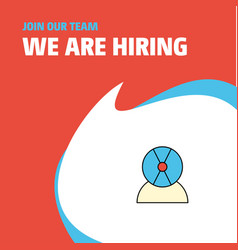 Join our team busienss company disk avatar we are vector