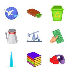 Joint-stock company icons set cartoon style vector