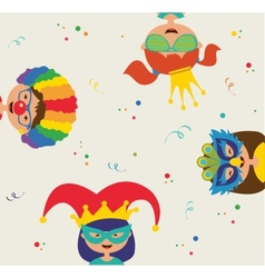 Kids wearing different costumes Jewish holiday vector