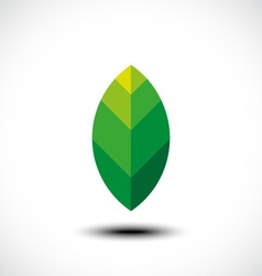 Leaf nature icon vector image