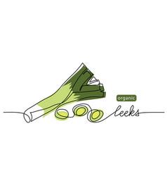 leeks fresh onion stalk vector image