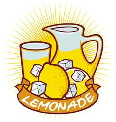 Lemonade label vector