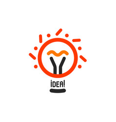 lightbulbs with line dots and beam logo vector image