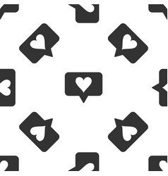 like and heart icon seamless pattern vector image
