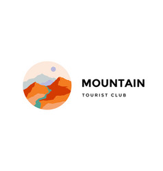 logo logotype sign mountain tourist club vector image