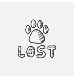 Lost dog sign sketch icon vector