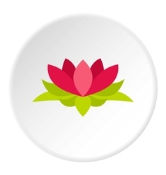 Lotus flower icon flat style vector image
