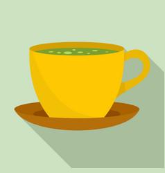 matcha hot tea icon flat style vector image