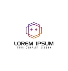 modern robot logo design concept template vector image