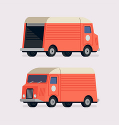 moving truck in different views vector image