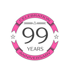 Ninety nine years anniversary celebration logo vector