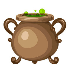 Old cauldron icon cartoon style vector