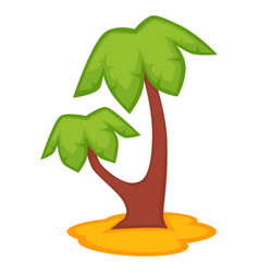 palm tree icon isolated on vector image