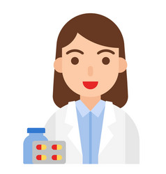 pharmacist icon profession and job vector image