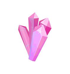 pink precious stones crystal gem vector image