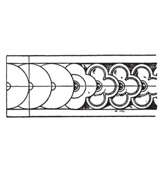 Plastic border rosette band is a louis xvi style vector