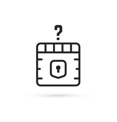 question box black thin line icon vector image