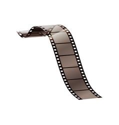 realistic film strip vector image
