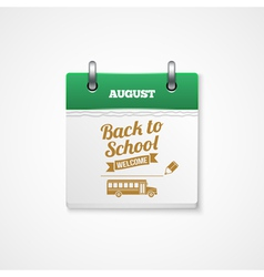 School calendar vector