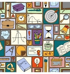 Science math theme School background vector